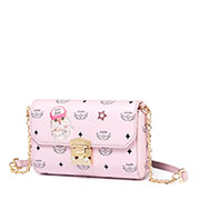 JUST STAR PU 2019 New Cute Printing Shoulder Bag Pink
