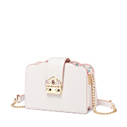 JUST STAR PU 2019 New Flower Printing Shoulder Bag White