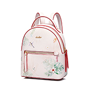 JUST STAR PU 2019 New Season Vintage Printing Backpack Pink