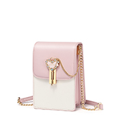 JUST STAR PU 2019 New Sweet Girl Phone Bag Pink