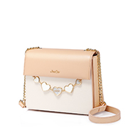 JUST STAR PU 2019 New Sweet Girl Shoulder Bag Apricot