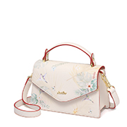 JUST STAR PU 2019 New Season Vintage Printing Shoulder Bag Pink