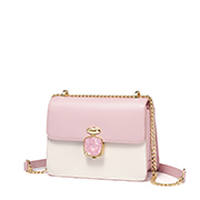 JUST STAR PU 2019 New Sweet Girl Shoulder Bag Pink