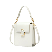 JUST STAR PU 2019 New Perfume Series Shoulder Bag White