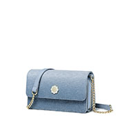 JUST STAR 2019 New Flower Shoulder Bag Blue
