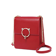 JUST STAR PU 2019 New Casual Phone Bag Red