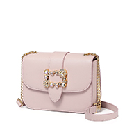 JUST STAR PU 2019 New Casual Girl Chain Bag Pink