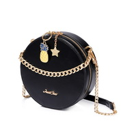 JUST STAR PU 2019 New Summer Fruit Party Shoulder Bag Black