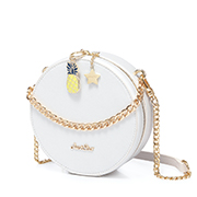 JUST STAR PU 2019 New Summer Fruit Party Shoulder Bag White