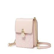 JUST STAR PU 2019 New Fashion Phone Bag Pink