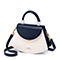 JUST STAR PU 2019 New Special Fan Shape Handbag Blue