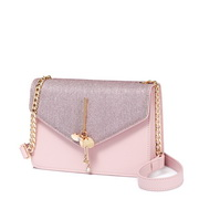 JUST STAR PU 2019 New Sweet Flower Tassel Shoulder Bag Pink