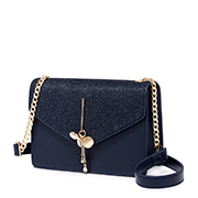 JUST STAR PU 2019 New Sweet Flower Tassel Shoulder Bag Blue