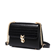 JUST STAR PU 2019 New Korea Style Shoulder Bag Black