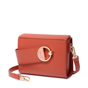 JUST STAR PU 2019 New Box Style Shoulder Bag Maple-leaf Red