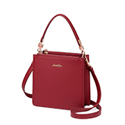 JUST STAR PU 2019 New Fashion Clean Look Handbag Red