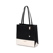 JUST STAR PU 2019 New Popular Tote Bag Black