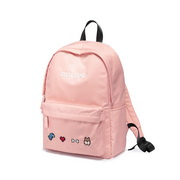 JUST STAR 2019 New Cute Embroidery Backpack Pink