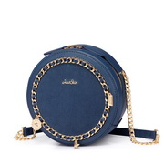 JUST STAR PU 2019 New Fashion Round Bag Blue