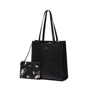 JUST STAR 2019 New Fashion Tote Bag Black