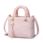 JUST STAR 2019 New Winter Fluffy Handbag Pink
