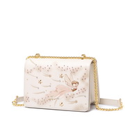 JUST STAR 2019 New Girl Paint Shoulder Bag White