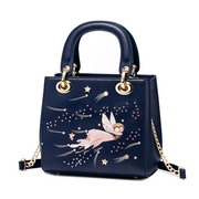 JUST STAR 2019 New Girl Paint Handbag Blue