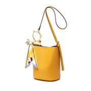 JUST STAR PU 2019 New Fashion Casual Bucket Bag Yellow