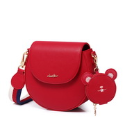 JUST STAR 2019 New Fashion Wide Shoulder Strap Bag Red