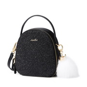 JUST STAR 2019 New Shiny Shoulder Bag Black