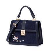 JUST STAR 2019 New Fashion Chinese Embroidery Shoulder Bag Blue
