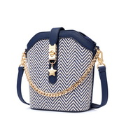 JUST STAR 2019 New Fashion Bucket Bag Blue