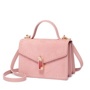 JUST STAR 2019 New Winter Suede Fabric Handbag Pink
