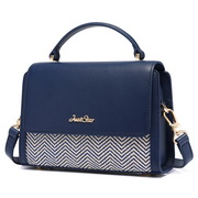 JUST STAR 2019 New Popular Weave Shoulder Bag Blue