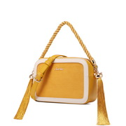 JUST STAR 2020 New Fashion Tassel Shoulder Bag Yellow