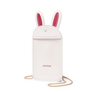 JUST STAR 2020 New Cute Rabbit Phone Bag White