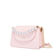 JUST STAR 2020 New Sweet Pearl Girl Shoulder Bag Pink