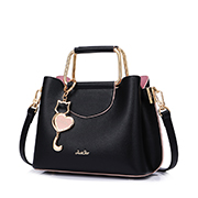 JUST STAR 2020 New Sweet Girl Handbag Black