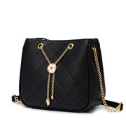 JUST STAR 2020 New Summer Girl Bucket Bag Black