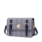 JUST STAR 2020 latest Classical Plaid Style Urban Women Shoulder Square Bag Blue