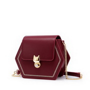 JUST STAR 2020 New Arrival Fashion Embroidery Sweet Women Shoulder Bag Red