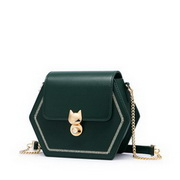 JUST STAR 2020 New Arrival Fashion Embroidery Sweet Women Shoulder Bag Green