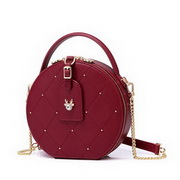 JUST STAR 2020 Latest Sweet Dree Decoration Girl Roung Bag Red