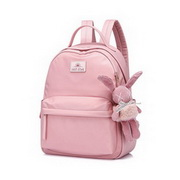 JUST STAR 2020 New Fashion Cute Sweet Rabbit Decoration Girl Backpack Pink
