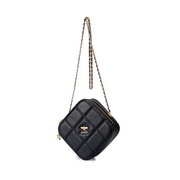 JUST STAR 2020 New Trend Diamond Women Shoulder Bag Black