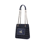 JUST STAR 2020 Autumn New Design Woolen Sweet Girl Hang Bag Blue