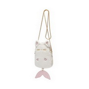 JUST STAR 2020 New Woolen Plush Cute Little Phone Bag White