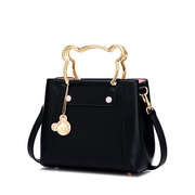 JUST STAR 2020 Bear Design Casual Women Shoulder Bag Black