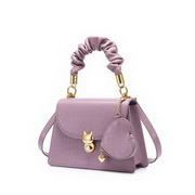 JUST STAR 2020 New Fashion Sweet Girl Kelly Bag Shoulder Bag Purple