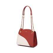 JUST STAR 2020 Casual Dairy Wear Contrast Color Women Tote Bag Red